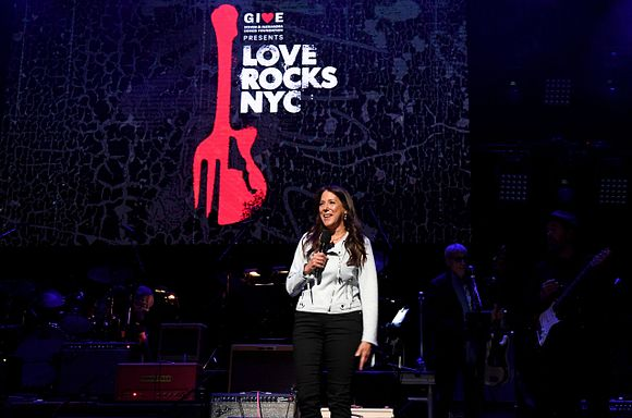 President & CEO of God's Love We Deliver Karen Pearl speaks onstage during the Fourth Annual LOVE ROCKS NYC Benefit Concert For God's Love We Deliver at Beacon Theatre on March 12, 2020