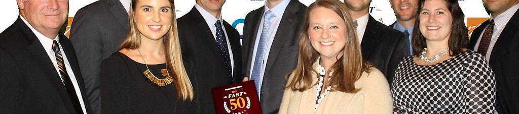 Group photo Nuventra at Fast 50 Awards