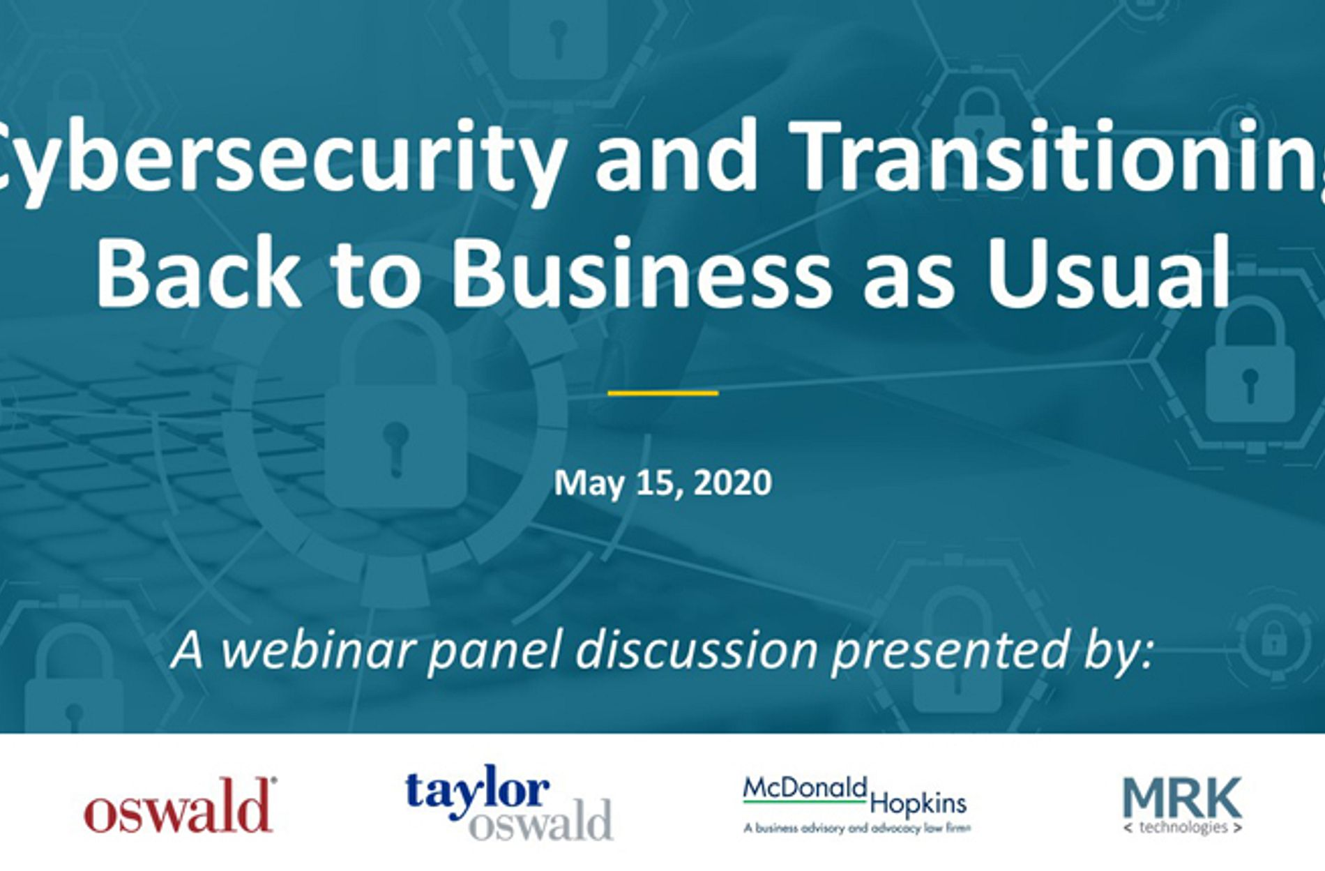 Cybersecurity May 15 Webinar